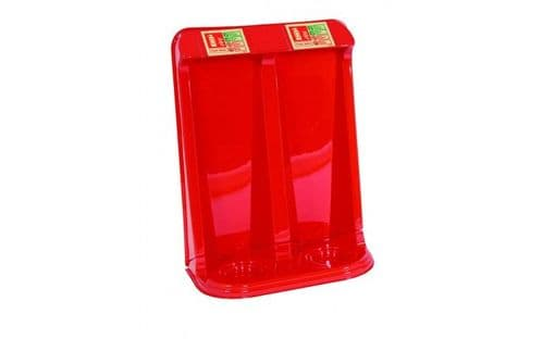 FIRECHIEF TPS2/RED - VACUUM FORMED DOUBLE FIRE EXTINGIUSHER STAND