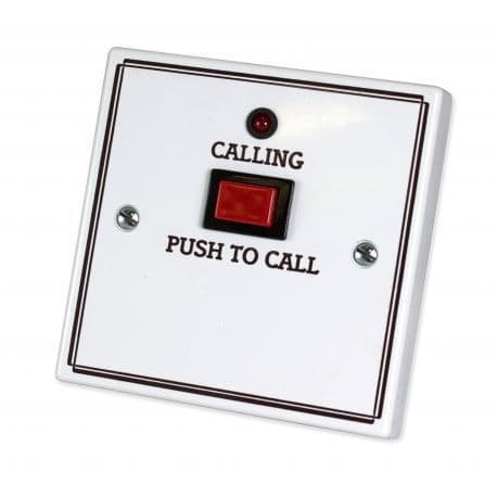 NC917L Standard Call Push with Protruding Button, No Reset, No Remote