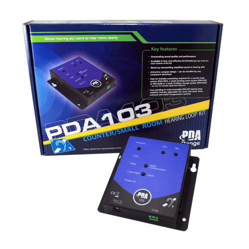 PDA103C 1.2m2 Wall-Mounting Counter Hearing Loop System