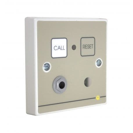 QT602RS Quantec Adressable Infrared Call Point, button reset c/w sounder & remote socket