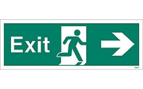 W405T - EXIT SIGN RIGHT 120 x 340mm