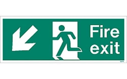 W433K - FIRE EXIT SIGN DOWN TO THE LEFT