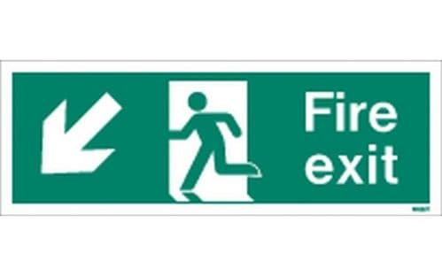 W433T - FIRE EXIT SIGN DOWN TO THE LEFT.
