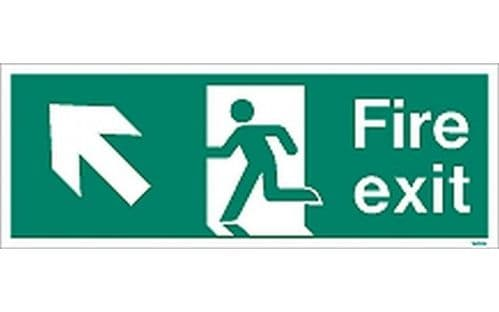 W434K - FIRE EXIT SIGN UP TO THE LEFT