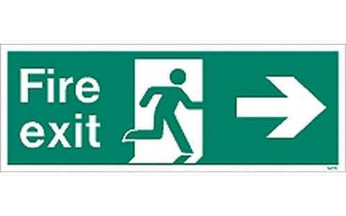 W435K - FIRE EXIT SIGN RIGHT