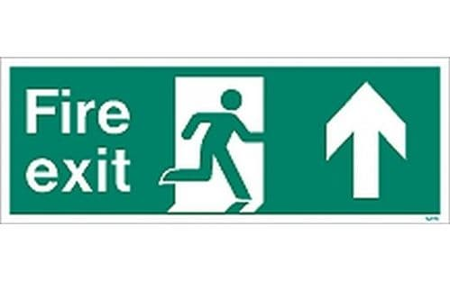 W436K - FIRE EXIT SIGN UP/FORWARD