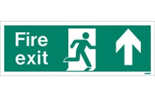 W436T - FIRE EXIT SIGN UP/FORWARD.
