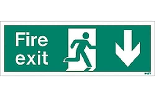 W437T - FIRE EXIT SIGN DOWN.