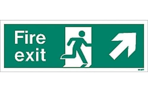 W438T - FIRE EXIT SIGN UP TO THE RIGHT.