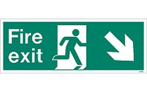 W439K - FIRE EXIT SIGN DOWN TO THE RIGHT