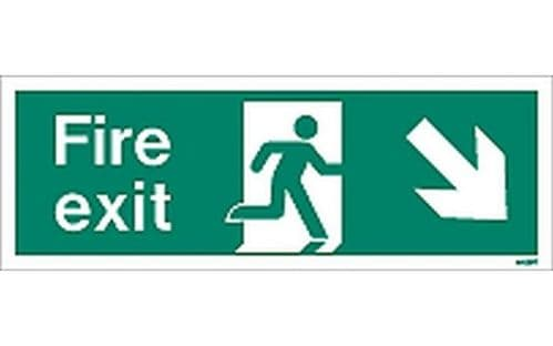 W439T - FIRE EXIT SIGN DOWN TO THE RIGHT.