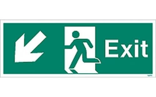 W443K - EXIT SIGN DOWN TO THE LEFT