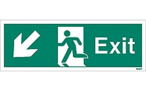 W443T - EXIT SIGN DOWN TO THE LEFT.