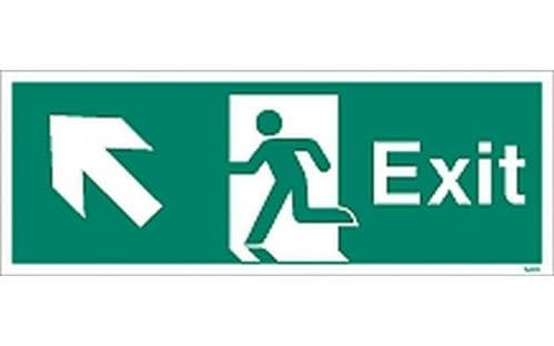 W444K - EXIT SIGN UP TO THE LEFT