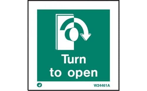 W4461A - TURN TO OPEN SIGN - CLOCKWISE