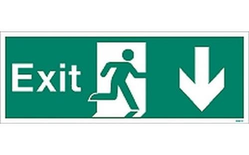 W447K - EXIT SIGN DOWN