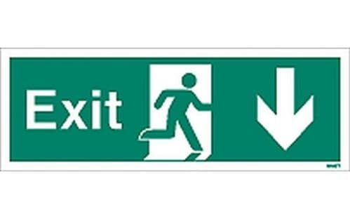 W447T - EXIT SIGN DOWN.