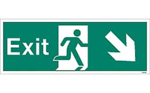 W448K - EXIT SIGN DOWN TO THE RIGHT