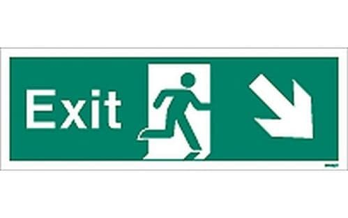 W448T - EXIT SIGN DOWN TO THE RIGHT.