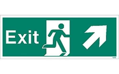W449K - EXIT SIGN UP TO THE RIGHT