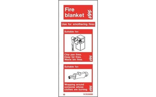 W6366M - FIRE BLANKET EXTINGUSHER IDENTIFICATION SIGN