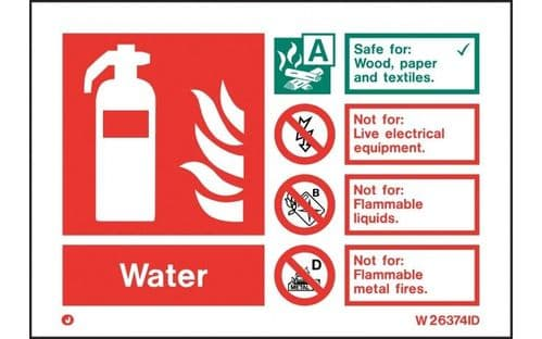 W6374ID - WATER EXTINGUISHER IDENTIFICATION SIGN wp