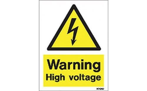 W7424D - WARNING HIGH VOLTAGE SIGN.