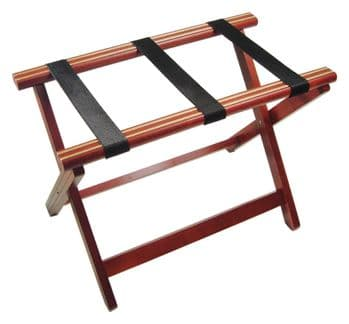 Mahogany Folding Luggage Rack Wooden