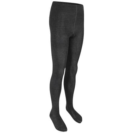 Cotton Rich Black Tights Twin Pack