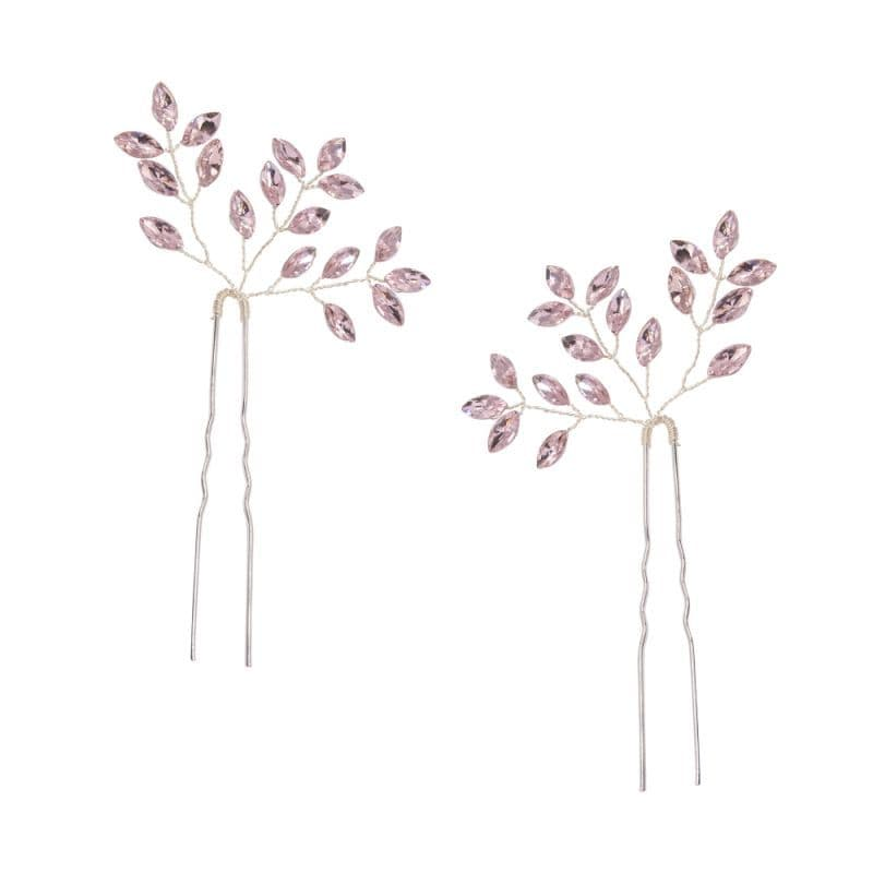 Anka Glitzy Hair Pins Blush Pink