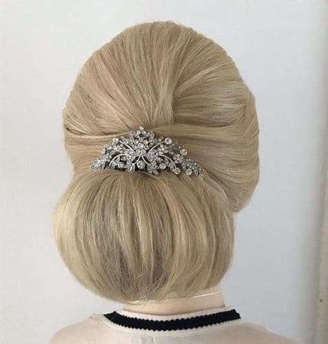 Julia Silver Vintage Style Hair Comb