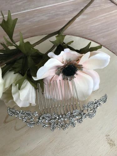 Mira Silver Vintage Style Hair Comb