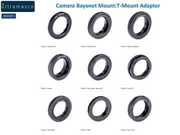 Camera Bayonet Mount:T-Mount Adapter -  Type 1 for T-Mount Adapters