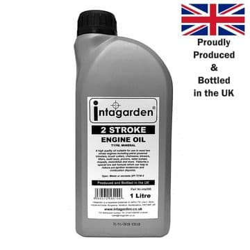 1 Litre, 2 Stroke Oil for Husqvarna, Jonsered, McCulloch, Partner, Flymo, Poulan, Weedeater Machines