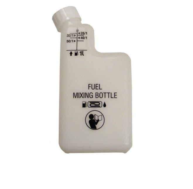 2 Stroke Petrol Fuel Oil Mixing Bottle for Strimmers, Chainsaws, Hedge Trimmers, Blowers