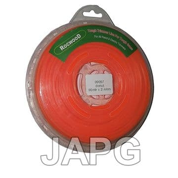 2.4mm x 90m Professional Quality Strong Nylon Grass Trimmer Strimmer Line 2.5mm ( SQUARE PROFILE )
