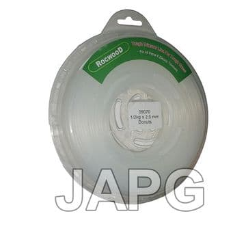 2.5mm x 90m Professional Quality Strong Nylon Grass Trimmer Strimmer Line 2.4mm ( ROUND PROFILE )