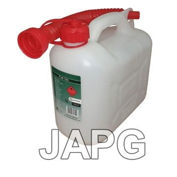 5 Litre, 5L Clear Fuel Petrol Can Jerry, Mower, Strimmer, Chainsaw, Blower, Tiller, Generator