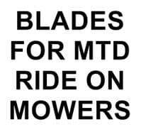 Blades for MTD Ride On Mowers