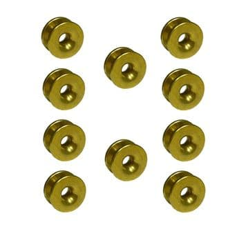 Brass Eyelets, Workshop Pack of Ten, for Trimmer, Strimmer, Brush Cutter Heads