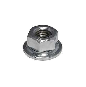 M10 x 1.25 LH Left Hand Thread Flanged Steel Nut