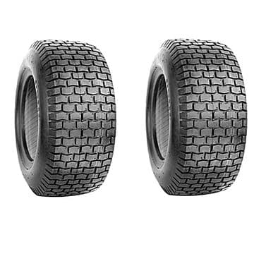 "Pair of Tyres 16 x 6.50-8, Tubeless Turf, Size 16"", For 8"" Wheel Rims, 16 x 6.5 x 8, RST Tires 4 PLY"