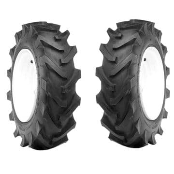 Pair of Tyres 4.00-12, 4.00 x 12 DURO Lug For Agricultural Implements, Cultivator, Rotovator, Tiller