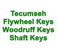 Tecumseh Flywheel Keys, Woodruff Keys and Shaft Keys