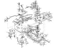 Westwood T1200 Underframe parts, gearbox and transmission parts, pulleys, belts and pto parts