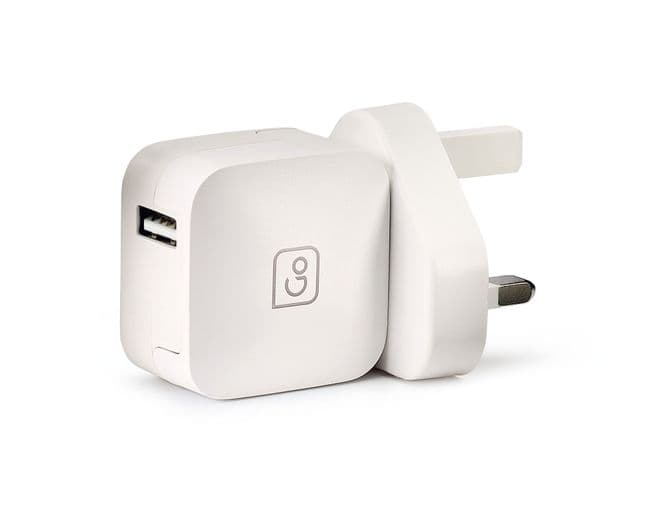 Go Travel 2.4A Compact USB UK Charger for Smartphones and Tablets (Ref 577)
