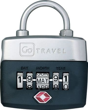 Go Travel 5 Dial TSA accepted Combination Birthday Luggage Padlock (Ref 355)