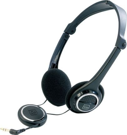 Go Travel Deep Base High Performance Folding Headphones with Cable Tidy(Ref 913)
