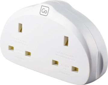 Go Travel Earthed UK-EU European Compact Duo Adaptor (Adapter Ref 523)
