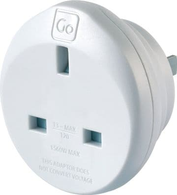 Go Travel Earthed UK to America Adaptor-UK to USA Converter - (Adapter Ref 526)